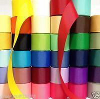 """Grosgrain Ribbon 1.5"""" Wholesale 34 yards LOT solid 1 yard per color BULK USA"""