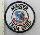 SAC MASTER TEAM CHIEF PATCH US AIR FORCE STRATEGIC AIR COMMAND Cold War Vintage