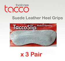 TACCO Suede Heel Grip Shoe Insoles Inserts TaccoSlip ONE SIZE FITS ALL x 3pr