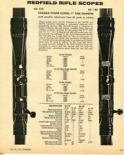 1971 Print Ad of Redfield Variable Power Rifle Scope