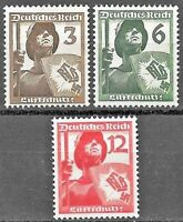 Germany's Third Reich Mi# 643-645 MNH 4th Anniv. of Civil Defense Union 1937 **
