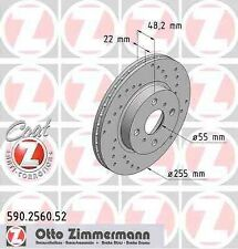 Disque de frein avant ZIMMERMANN PERCE 590.2560.52 TOYOTA COROLLA _E10_ 1.3 XLI