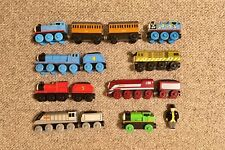 Wooden trains: Thomas, Percy, Gordon, James, Spencer, Caitlin, Diesel 10 + more