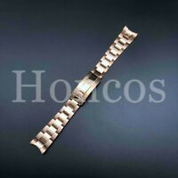 20MM Submariner Watch Band Bracelet Shiny Satin Rose Gold Fits For Rolex 2021