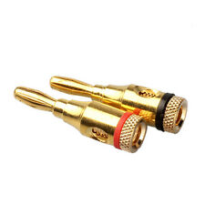 1 Pairs 4mm Musical Audio Speaker Gold-plated Banana Plug Connector Salable