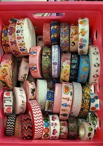 Grosgrain Ribbon Printed Cartoon Characters Grab Bag Mix 20 yards USA SELLER