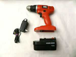 Black & Decker 18V Cordless Drill Model: GC1800with Battery & Charger