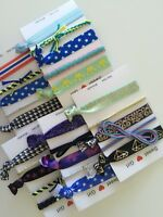 New Girls Women Bracelet knot Ribbon Ponytail No Crease Hair band Tie Holder Set