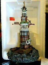 Eddystone England Harbour Lights Lighthouse- 2001 Exclusive 10 Yr Anniv Detailed