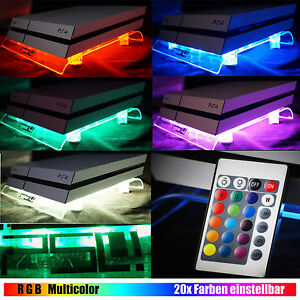 RGB USB Design Cooler Cooling Fan Pad Stand controler PS4 Playstation 4 Pro Slim