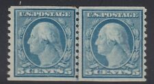 496 linepair VF original gum lightly hinged with nice color cv $ 30 ! see pic !