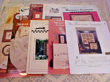Lot of 10 Cross Stitch Charts Booklets Samplers Quotes Kitchen Ducks Flowers