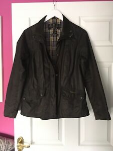 womens barbour wax jacket size 10