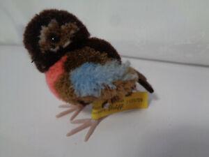 Vintage : Steiff  Woll Miniatur Vogel , KF Nr. 7125/09 , 9 cm