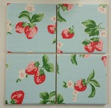 Handmade Floral Square Coasters