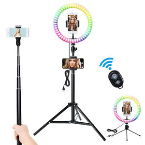 10''  LED Dimmbar Ringleuchte Ringlicht + Handy Stativ für Live YouTube Tik Tok