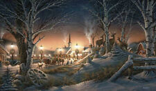 """TERRY REDLIN  """"Night on the Town""""  24"""" X 14"""" Signed Print"""