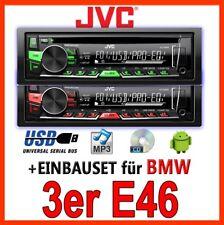 BMW 3er e46-JVC cd/mp3/usb autoradio-Kit Installazione Radio accessori smartphone