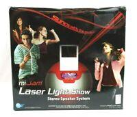 MiJam Laser Light Show Stereo Speaker System Open Box