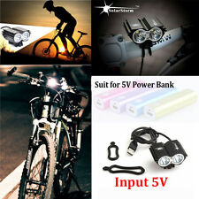 Solar Storm 8000LM X2 CREE XM-L T6 USB Waterproof Lamp LED Bicycle Headlight NE