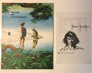Voice of Comicdom #16, (1970), includes Editor's Slot by Frank Frazetta, VF/NM