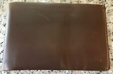 BELLROY Vegetable Tanned Leather Travel Passport Wallet Cocoa Java Brown Color