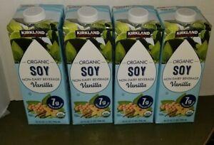 Kirkland Signature Organic Vanilla Soy Beverage Cartons 32 fl. oz, 4 count
