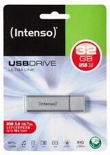 USB 3.0 Stick 32GB Speicherstick Intenso Ultra Line silber USB 3.0 im Blister