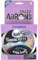 "Stardust Crazy Aaron's Thinking Putty COSMIC Glow in the Dark Glitter Black 4"""
