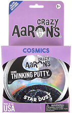 Star Dust Crazy Aaron's Thinking Putty COSMIC Glow in the Dark Glitter Black 4""
