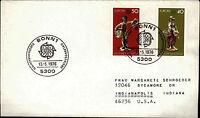 Ersttagsbrief 1976 FDC Sonderstempel Bonn Europa Marken 40+50 Pfennig Brief