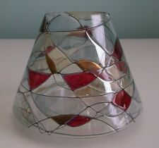 Partylite Mosaic / Tiffany Stained Glass Shade Large Jar Candle Topper