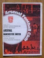 Vintage 1970 Arsenal vs Manchester United Soccer Football Program, George Best