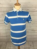Men's Ralph Lauren Polo Shirt - Small - Custom Fit - Striped - Great Condition
