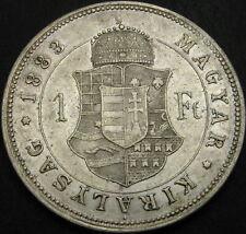 HUNGARY 1 Forint 1883 KB - Silver - Franz Joseph I - XF - 3930 ¤