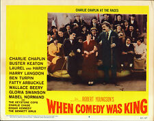 CHARLIE CHAPLIN original lobby card WHEN COMEDY WAS KING 11x14 movie poster