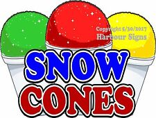 Snow Cones Decal Choose Your Size Concession Food Truck Sign Sticker