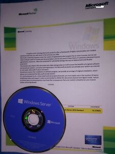 Microsoft Windows Server 2016 Standard 16 core license w/25 CAL CERT & MS USB