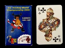 "Russian 36 Playing Cards Deck ""CONTI"" World Ice Hockey Championship 2000"