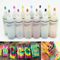 12 Farbset Flaschen Tulpe One Step Tie Dye Set Vibrant Fabric Textile Permanent