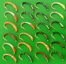 25 mixed EPOXY BUZZERS trout fly fishing flies. SET 90 x 25 flies. Hook size 12.