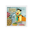 Hanna Barbera-Flintstones-Fred Original Cel w/Drawing Signed Hanna and Barbera