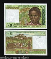 MADAGASCAR 500 FRANCS P75b 1994 ANIMAL UNC NOTE BUNDLE AFRICA CURRENCY 100 NOTES