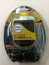 CASIO NP20 DC03 Wall & Car Charger by Digital Sunflash - Silver