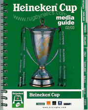EUROPEAN 'HEINEKEN' CUP RUGBY MEDIA GUIDE 2002/03 TOULOUSE WINNERS