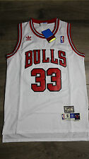 Scottie Pippen #33 Chicago Bulls Jersey Throwback Vintage Classic Retro White