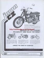 Jawa CZ Sport Twin 250cc Motorcycle 1975 Magazine Advert #1845