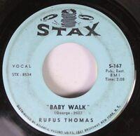 Soul 45 Rufus Thomas - Baby Walk / Little Sally Walker On Atlantic Record