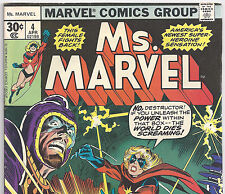 Ms. Marvel #4 The Destructor Apr. 1977 Fine- Carol Danvers Captain Marvel movie