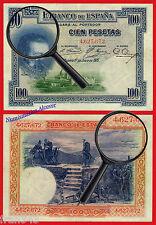 100 Pesetas 1925 Sello en Seco República SIN SERIE EBC